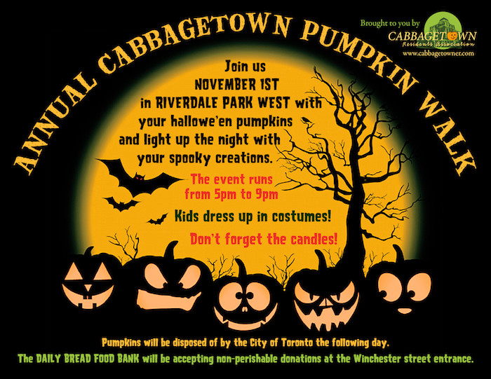 Cabbagetown Pumpkin Walk Flyer