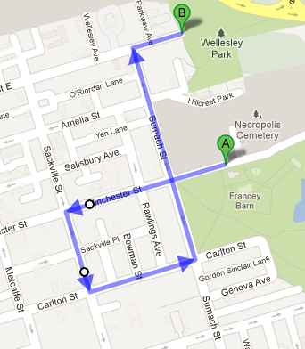 Forsythia Festival Parade Route