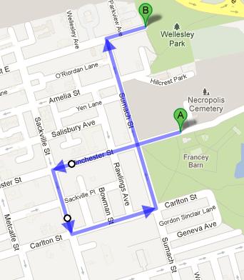 Forsythia Festival Parade Route