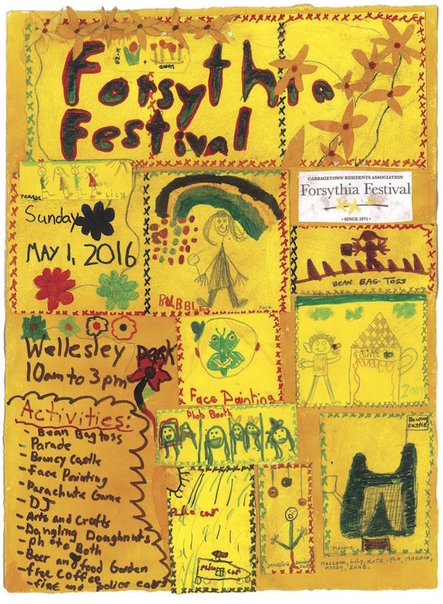 Forsythia Festival Poster 2016