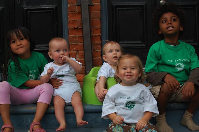 Kids wearing Tshirts and Onesies