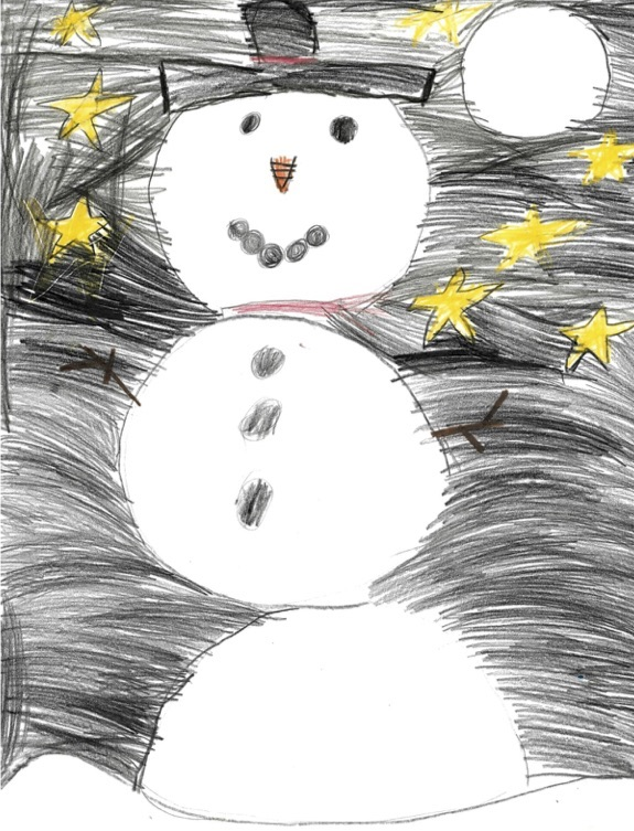 "WINCHESTER PRIMARY WINNER Wren, ""Snowman and Stars"""