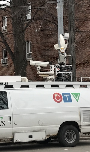 Image of CTV truck with security camera above