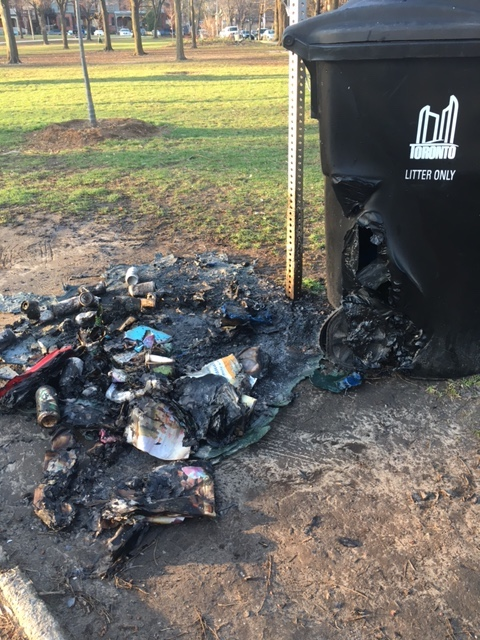 Image of debris from a fire