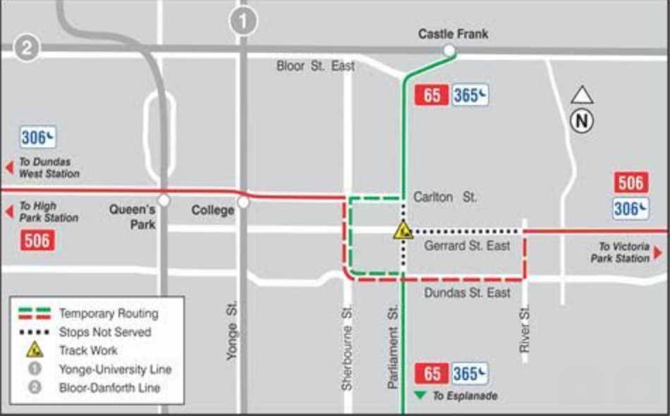 TTC changes scheduled for Gerrard-Parliament intersection closure ...