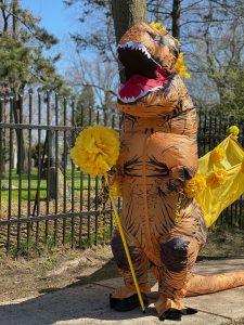 Forsythia festival mascot