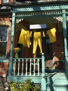 house decorated in yellow