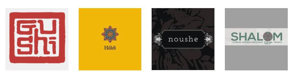 four restaurant logos