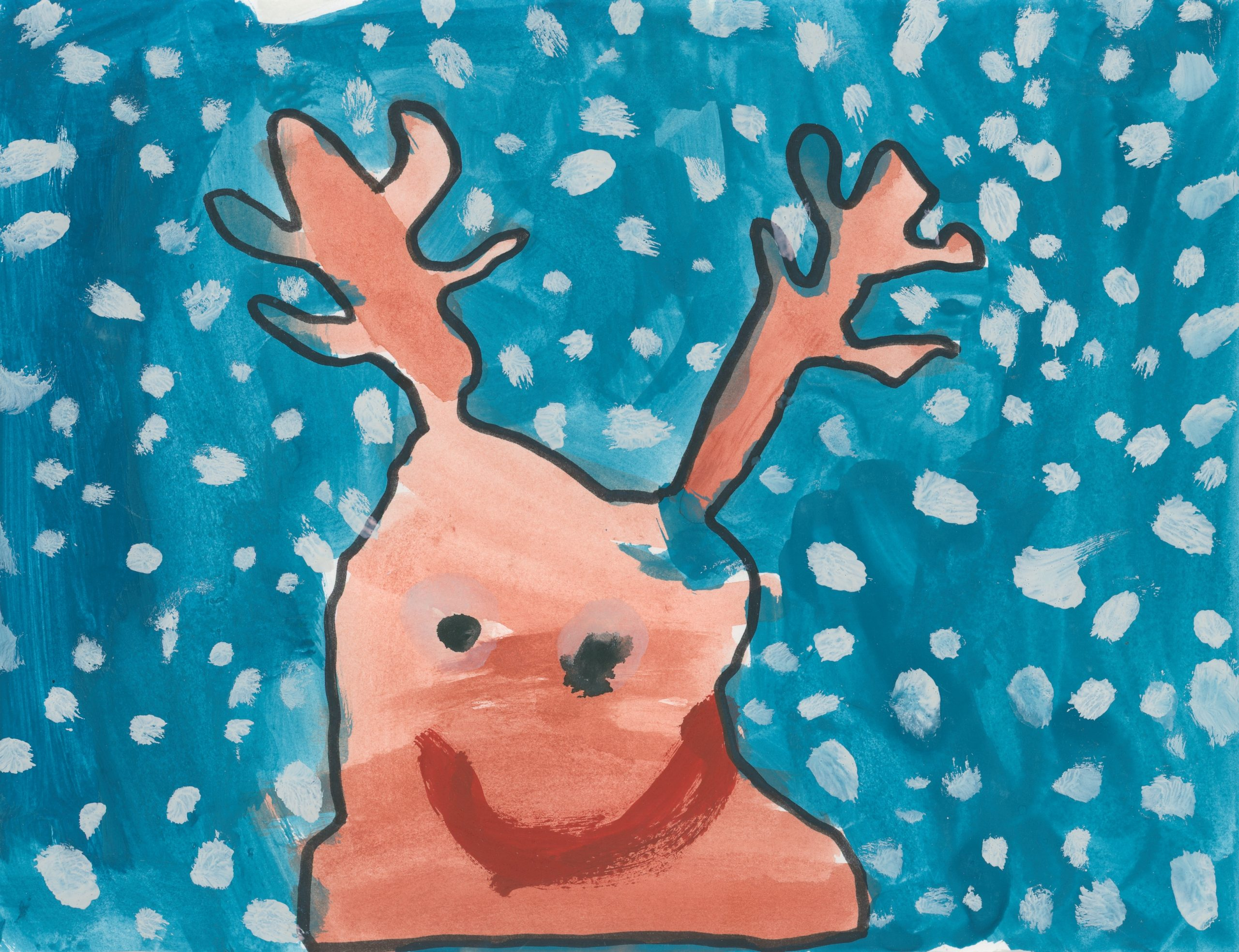 painting of reindeer