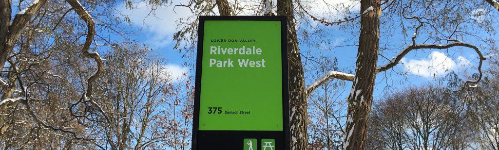 Riverdale Park signage